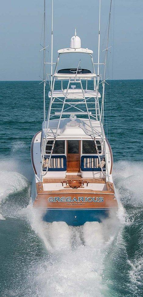 Gregarious, Newport Boat Transom