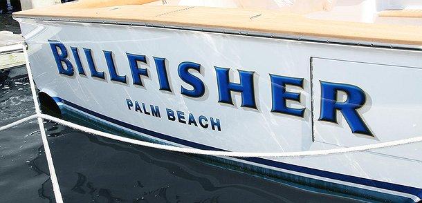 Billfisher, Palm Beach Boat Transom