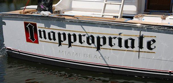 Inappropriate, Miami Beach Boat Transom