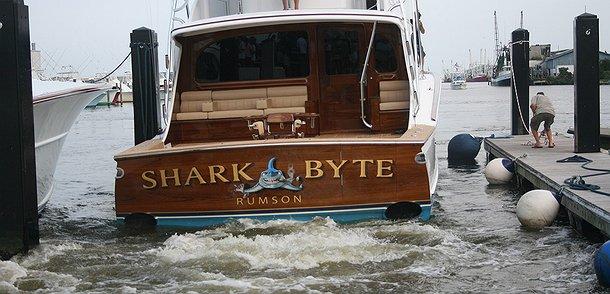 Shark Byte, Rumson Boat Transom