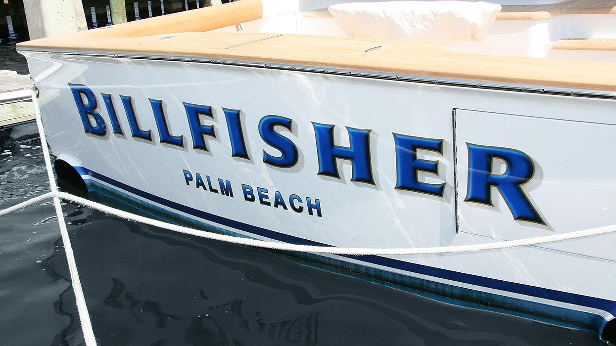 Billfisher palm beach boat transom boats transom for Custom transom