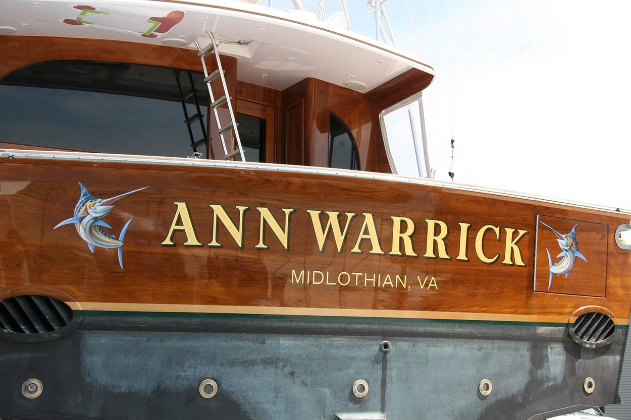 Ann Warrick Midlothian Virginia Boat Transom Boats