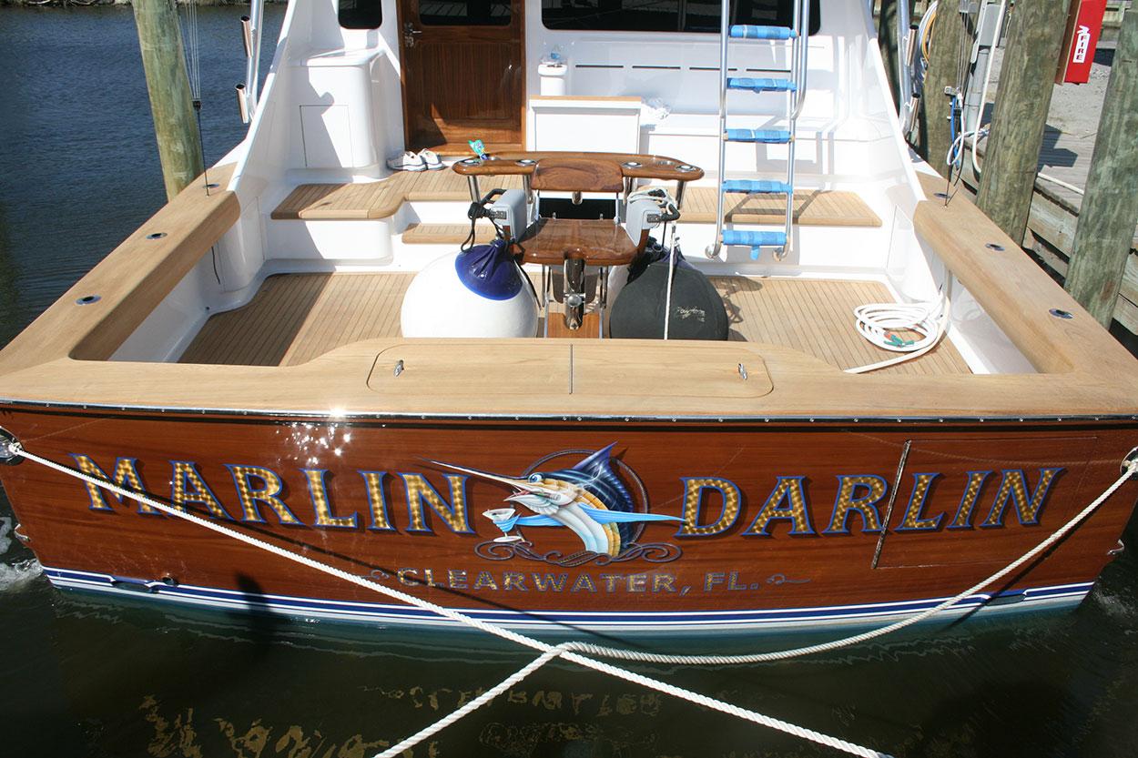 Marlin Darlin Clearwater Florida Boat Transom Boats